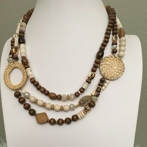 Boho necklace with matching earrings